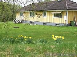Klubbstugan är byggd 1982 på egen mark och är klubbens stolthet.