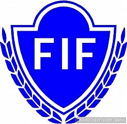 Så här ser Floby IF:s stolta klubbmärke ut...