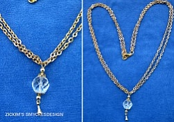 HA051 Crystaldrop: Halsband med facetterad glaspärla och guldfärgad kedja...59:-SÅLDFör att se en större bild, klicka på denna länk. Lägg till bildtext textarea cant be used in forms style=