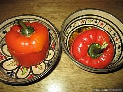 Färsfylld paprika med nötfärs, eget recept.