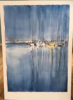 Akvarell. Johan Jönsson.Vernissage 7 juni.