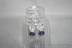 OR069 Swarovski purple: Örhängen med lila och vita swarovski kristaller...60:- 30:-
