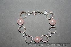 AR164 Princess ring: Armband med rosa pärlor och ringar...89:-