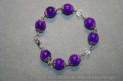AR166 Purple miracle: Armband med lila mirakelpärlor...89:- 49:-(dom är mycket mörkare lila i verkligeheten men blixten gör att dom ser ljusare ut, därav namnet mirakelpärlor)