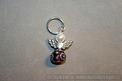 BC037 Barncancerängel 37: Ängel med litennyckelring...finns att köpa hos Studio Mini SÅLD