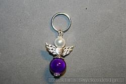 BC047 Barncancerängel 47: Ängel med litennyckelring...finns att köpa hos Studio Mini          SÅLD