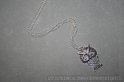 HA161 Owl: Halsband (80 cm) med en stor uggla...95:- SÅLD
