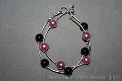 AR173 Double string: 2 armband i ett med rosa och svarta pärlor...89:- 59:-