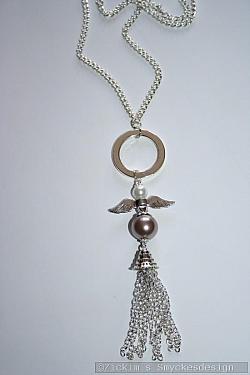 HA167 Angel chains: Halsband (65 cm)med en ängel samt kedje hänge...110:-