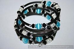 AR188 Turquoise memory: Memory armband med turkosa cateye pärlor...125:- SÅLD