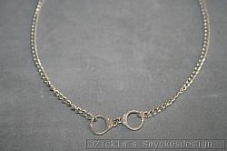 HA176 Handcuffs: Halsband (48 cm lång) med ett par handklovar...79:-
