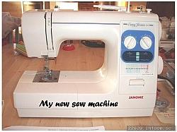 Min nya symaskin, som inte alls blev som jag hade tänkt. JANOME är överreklamerad!
