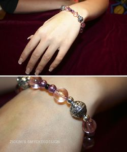 SE010 Pinkdream: Armband i rosa + tillhörande örhängen...100:-SÅLD