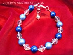 AR051 Blueball: Armband med blåa pärlor...75:- SÅLD Lägg till bildtext textarea cant be used in forms style=