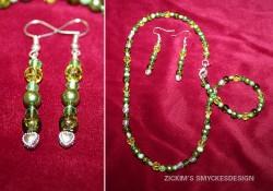 SE029 Little green: Halsband med olika gröna pärlor samt små hjärtan + tillhörande örhängen...100:-SÅLDFör att se en större bild, klicka på denna länk.