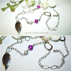 SE014 Silverleaf: Halsband med silverhänge + tillhörande berlock armband...249:- endast halsband kvar 180:-
