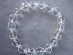 AR076 Elastic crystal: Elastiskt armband med facetterade glaspärlor...65:- SÅLD  För att se en större bild, klicka på denna länk.