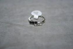 OV047 Ring 12: Ring med stenar i två färger...45:-