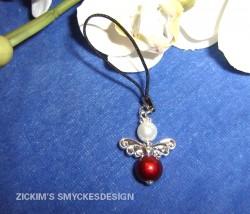 MO011 Mobile red angel: Mobil smycke med röd ängel...55:- SÅLD