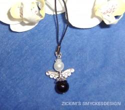MO012 Mobile black angel: Mobil smycke medsvart ängel...59:- SÅLD