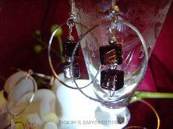 SE018 Brown cube: Örhängena till halsbandetSÅLD