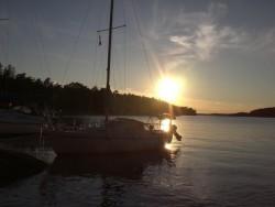 Solnedgång på Härsö 2/7