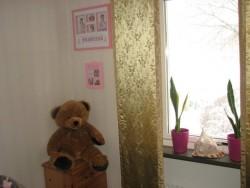 Mitt rum som sedan blev tapetserad med rosa och hjärtan, hade det en kort period när vi bodde på petersbergsv. i vbg