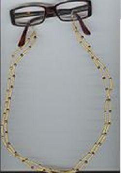 Svart snöre halsband