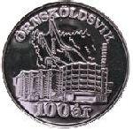 Mynt Ö-vik 100 år, åtsida