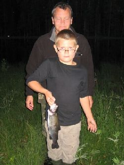 Nattfiske vid Rågåtjärn